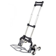 176lbs Safty Use Folding Climbing Stair Cart Hand Truck Adjustable Height Trolle