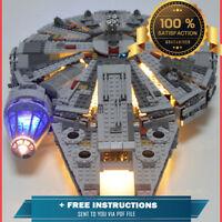 LEGO Star Wars Millennium Falcon Space Ship New Custom LED Light Kit Set