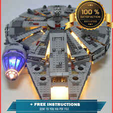 LEGO Star Wars Millennium Falcon Space Ship New Custom LED Light Kit Set