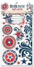 Bo Bunny LIBERTY Rub-ons Srapbooking Embellishments Cardmaking Paper Crafts