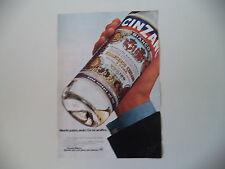 advertising Pubblicità 1977 CINZANO BIANCO