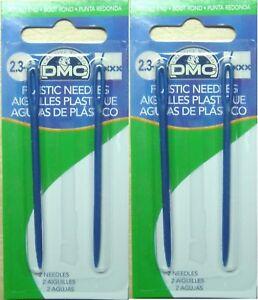 4 x DMC Children Plastic Needles Cross Stitch Crafts