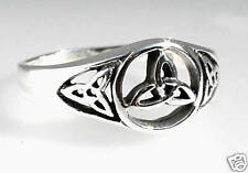 925 Sterling Silver TRIQUETRA Celtic Knot TRINITY Irish Ireland Ring SIZE 9