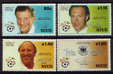 NEW ZEALAND NIUE WORLD CUP 1990 SET 4 UNMOUNTED MINT