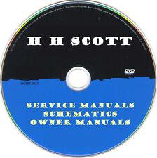 H H Scott Service Manuals & Schematics- PDFs on DVD - Huge Collection Latest