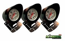 3 x 52mm Car Gauge Holders, Gauge Pods Triple Pack for Boost Gauge, Oil Temp etc