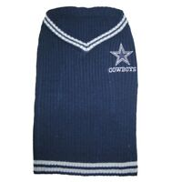 Dallas Cowboys NFL Pets First Acrylic Dog Pet Winter Blue Sweater Sizes XS-L
