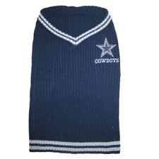 Dallas Cowboys NFL Pets First Acrylic Dog Pet Winter Blue Sweater Sizes XS-L