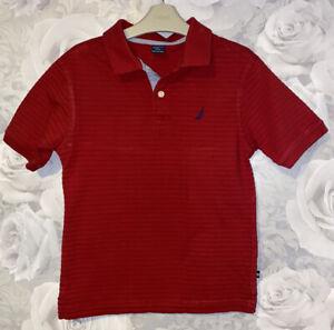 Boys Age 10-12 Years - Nautica Red Polo Shirt