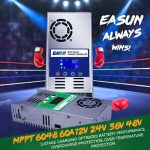 Easun Solarladeregler MPPT Laderegler 60A für 12V/24V/36V/48V V118 LCD Display