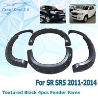 4PCS SET FENDER FLARE WHEEL ARCH for TOYOTA HILUX VIGO SR SR5 2011-15