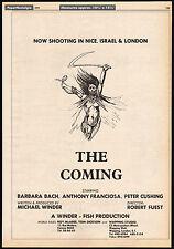 THE COMING__Original 1979 Trade AD / promo poster__BARBARA BACH__PETER CUSHING