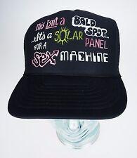 Bald Spot Solar Panel for Sex Machine Trucker Cap Mesh Back Plastic Snap Hat