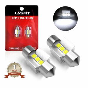 LASFIT 28mm LED Interior Dome License Plate Light Bulbs 6614 6614F 6000K White