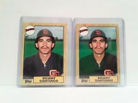 1987 Topps Tiffany Traded + Identical Topps Benny Santiago Padres ROOKIE