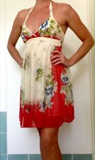 Wish Floral Silk Halter Neck Dress. Aus Size 10.