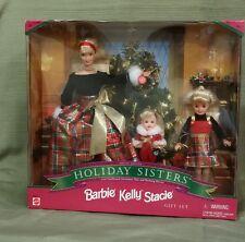 BARBIE 1998 HOLIDAY SISTERS BARBIE KELLY & STACIE GIFT SET #19809, *MIB & NRFB