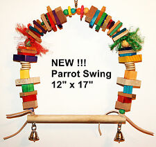 Bird Parrot Swing pet bird parrot toy cage toys african grey cockatoo amazon