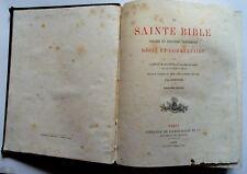 SAINTE BIBLE  ancien nouveau testament Abbé  Salmon 1879 French Holy Bible