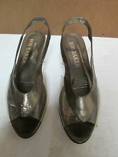 Bob Baker Vintage Clear with Bronze Leather Trim Womens Flats Size 7.5