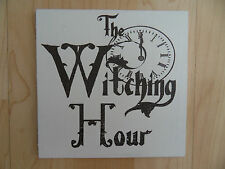 Shabby Halloween Witching hour plaque/sign, chic and unique