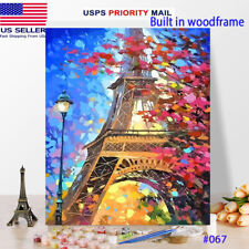 Usa Diy Oil Painting Paint by Number Kits With Frame for Adults kids Best Gift