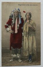 COUPLE D'INDIEN  SIOUX PEAU ROUGE,Native American Indian Chief 1920