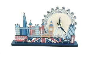 London Clock Figure Big Ben London bus London Wheel Eye London Souvenirs wooden