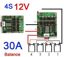 4S cells 30A 12V Lithium iron phosphate Battery BMS PCB Protection Board Balance