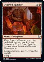 4x Dwarven Hammer - Kaldheim Uncommon Red Artifact - MTG NM EDH Magic - MTG_Dom