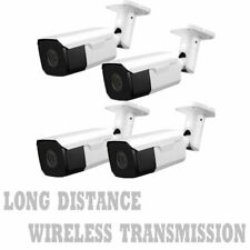 Long Distance 1700Ft Wireless Nightvision Cctv Camera Full System 4Ch Dvr