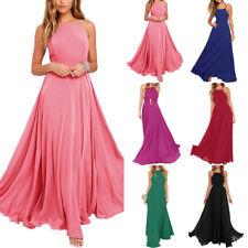 Fashion Women Chiffon Summer Boho Long Maxi Evening Party Dress Beach Dress