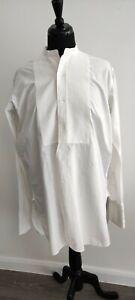 "RADIAC Men's dress shirt, vintage style, white size 15 M, chest 44"", unisex, vgc"