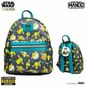 The Child Mandalorian Loungefly Mini Backpack Entertainment Earth Exclusive