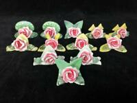 Set of 12  Vintage Antique Made In Germany Lovely Floral Place Card Holders