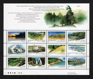 Canada Stamps — Full Pane of 12 — Canada Day, Algonquin Park #1483a — MNH