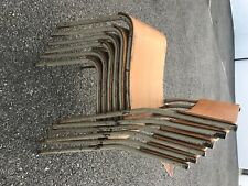 More details for 6 x vintage school chairs, metal frame classroom chairs. good condition