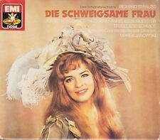 STRAUSS: DIE SCHWEIGSAME FRAU Adam, Burmeister, Schöne, Janowski, 3 CDs, gut