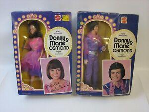 1976 Mattel Donny & Marie Osmond Dolls NMIB #H20