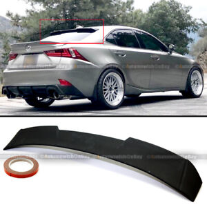 For 14-19 IS250 IS350 IS200t IS300 Primed V2 Style Rear Window Roof Wing Spoiler