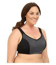 NEW marica Gabriella Sports Bra Plus Size 40C Black Grey