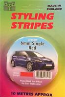Self Adhesive Car Pin Stripe Coach Tape Syling Stripe Red 6mm x 10mtr