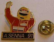 AYRTON SENNA McLAREN Marlboro Formula 1 one F1 pin BADGE