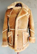 *Vintage* Shearling Sheepskin Leather Fur Coat Jacket  (Size 40)
