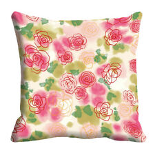 Mesleep Flower 3D Cushion Cover (16X16) Decorative Pink Colour Cushion Cover