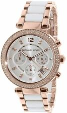 Michael Kors MK5774 Parker Chronograph White Dial Rose Gold Tone Wrist Watch