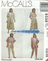 McCall's 6338 Misses' Jacket, Top, Skirt and Pants 8, 10, 12    Sewing Pattern