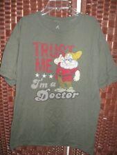 "Disney Hanes 7 Dwarfs Doc tshirt L mens 44"" C t shirt Trust Me I'm a Doctor"