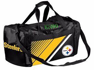 NFL Pittsburgh Steelers Gym Travel Luggage Border Stripe Duffel Bag