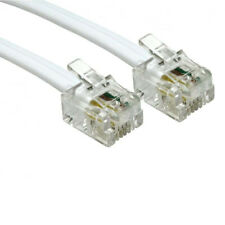 5m Long RJ11 To RJ11 Cable Lead 4 Pin ADSL DSL Router Modem Phone 6p4c - WHIT LY